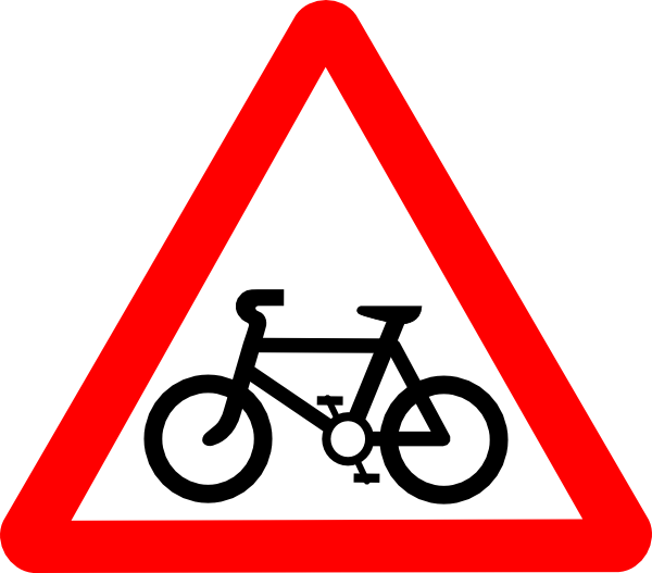Cycle clipart bicycle sign. Svg road signs clip