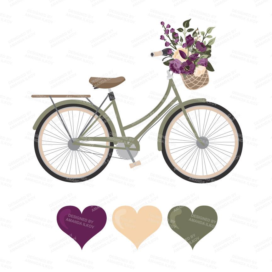 bike clipart rustic