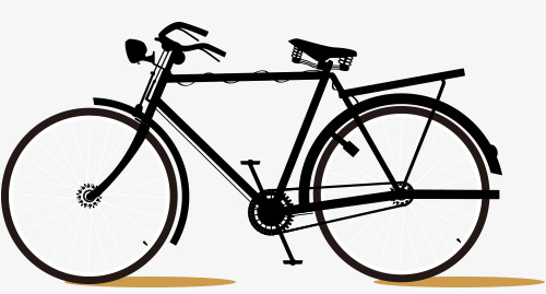 Clipart bike side view. Bicycle black png image