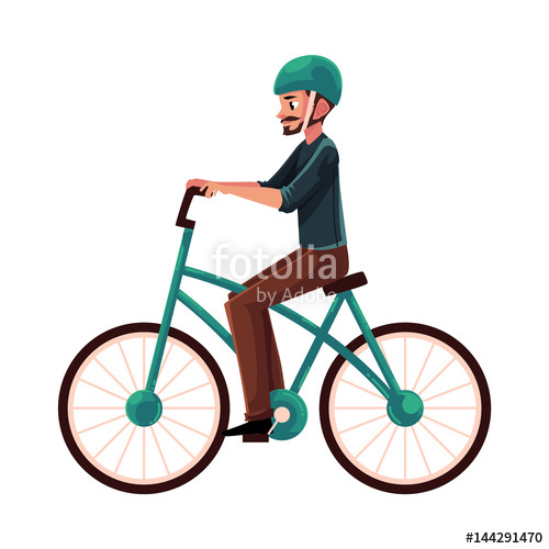 Young man guy riding. Bike clipart side view