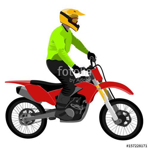 Bike clipart side view. Classic motocross motorcycle cleat