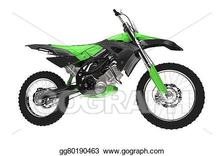 Drawing green dirt gg. Bike clipart side view