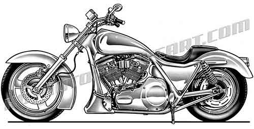 Bike clipart side view. Harley chopper clip art