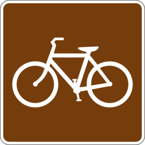 Bike clipart sign. Bicycle trail clip art