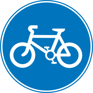 Free bicycle clip art. Bike clipart sign