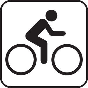 Map symbols clip art. Bike clipart sign