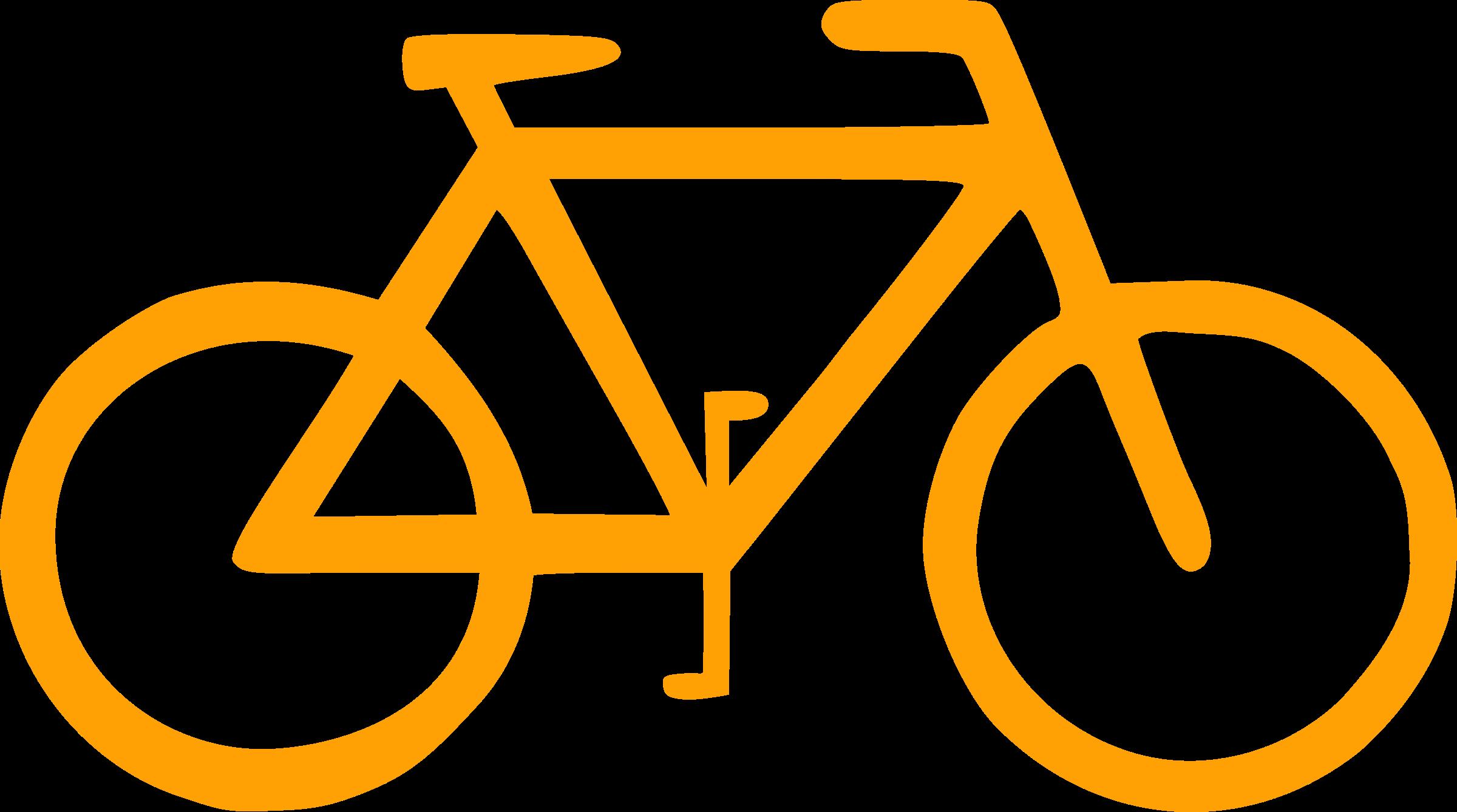 Bike clipart sign. Bicycle symbol big image
