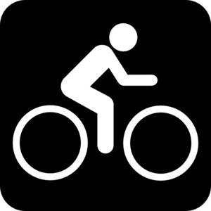 Black clip art at. Bike clipart sign