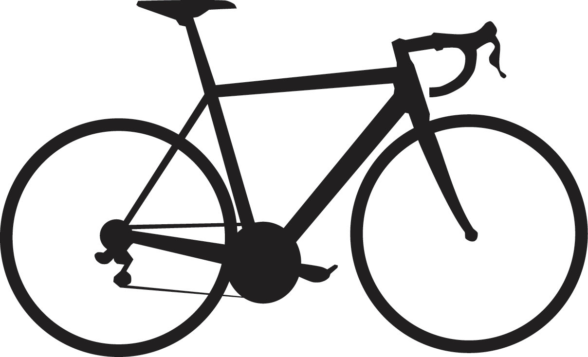 Cycling clipart 2 bike. Motorcycle clip art silhouette