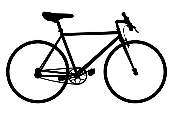 Mountain at getdrawings com. Bike clipart silhouette