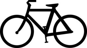 Image bicycle icon free. Bike clipart silhouette