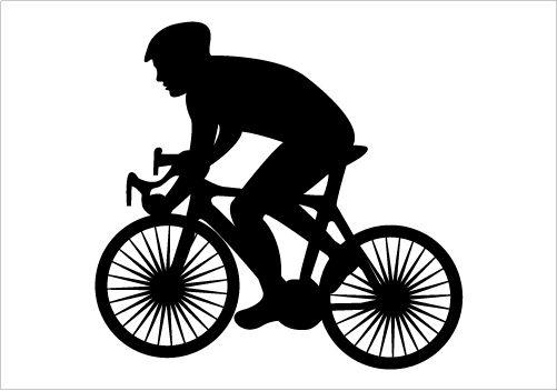 Cycling graphics cricut vinyl. Bike clipart silhouette