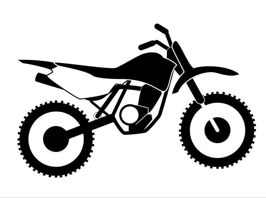 Motorcycle clipart red dirt. Simple bike drawing at