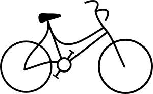 Bicycle clip art at. Bike clipart simple