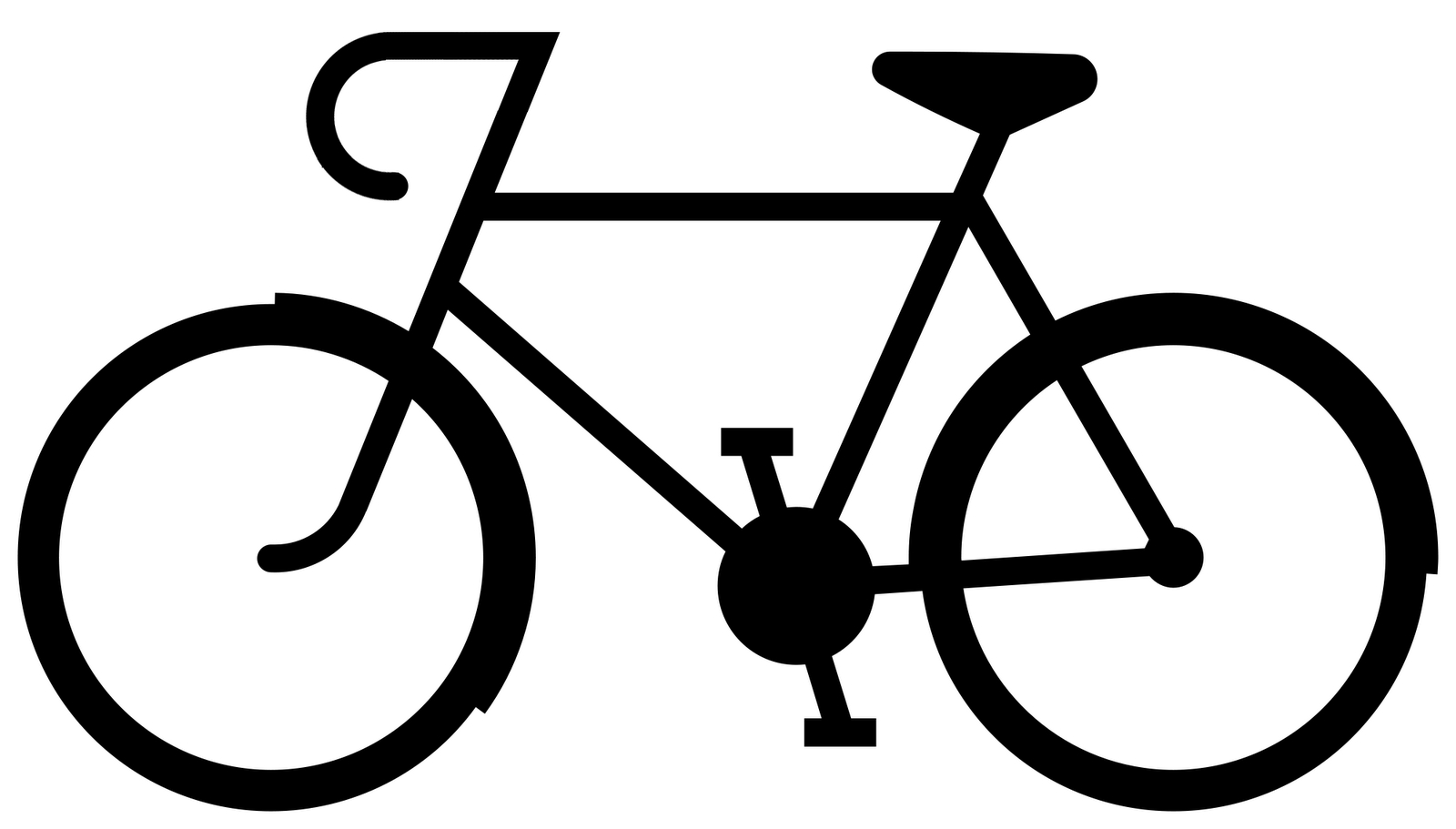 Biking clipart easy. Simple drawing of a