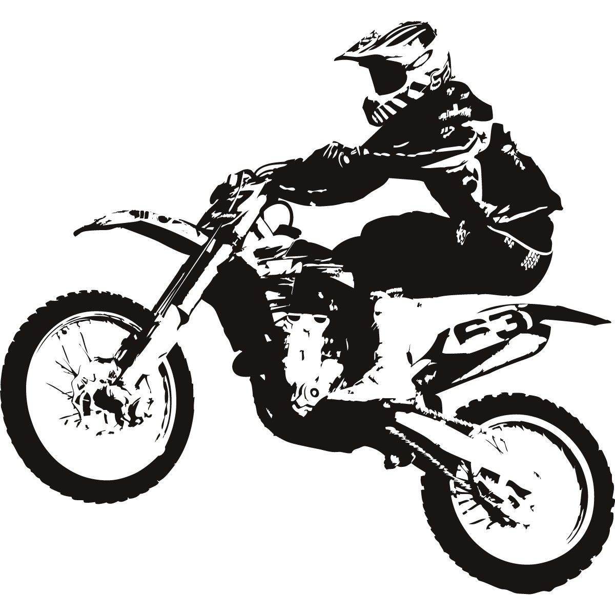 Free download motocross bike. Motorcycle clipart red dirt