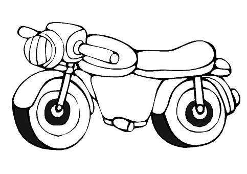 Bike clipart toy. Outline drawing at getdrawings