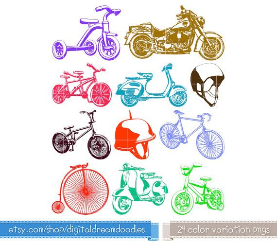 Bike clipart tricycle. Motorcycle scooter bicycle moped