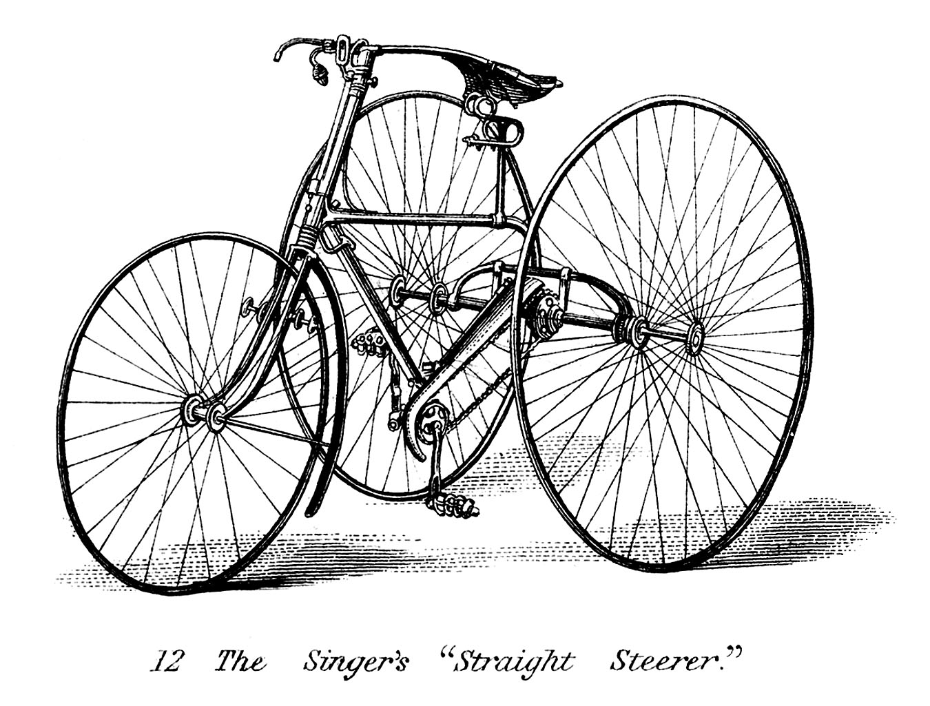 Vintage clip art early. Bike clipart tricycle