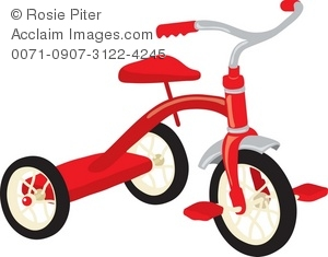 Clip art illustration of. Bike clipart tricycle