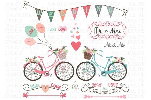 Bike clipart wedding. Creative daddy
