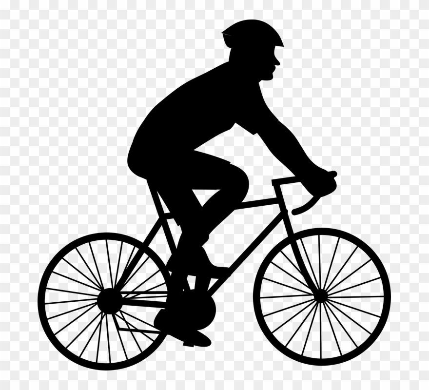 Black and white pictures. Biking clipart