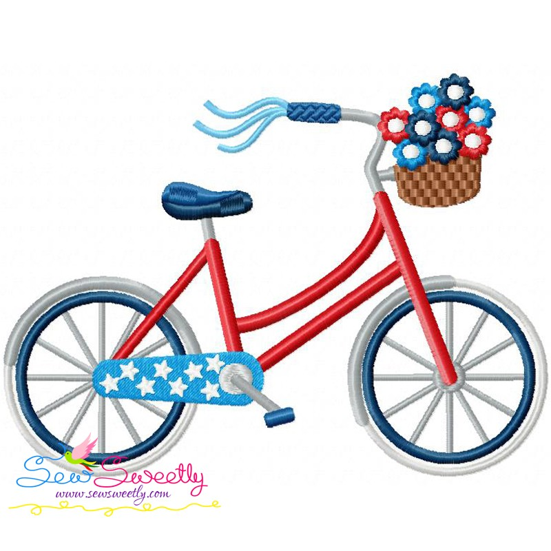th of bicycle. Biking clipart 4th july