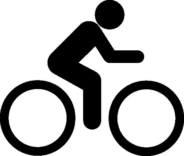 Black bike clip art. Biking clipart