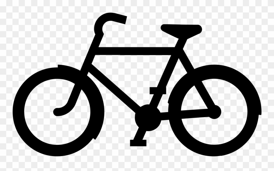 Free images clip . Bike clipart black and white