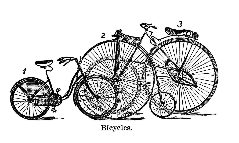 Biking clipart antique. Vintage clip art cute