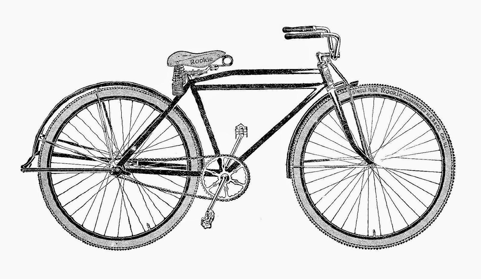Images free digital bike. Biking clipart antique