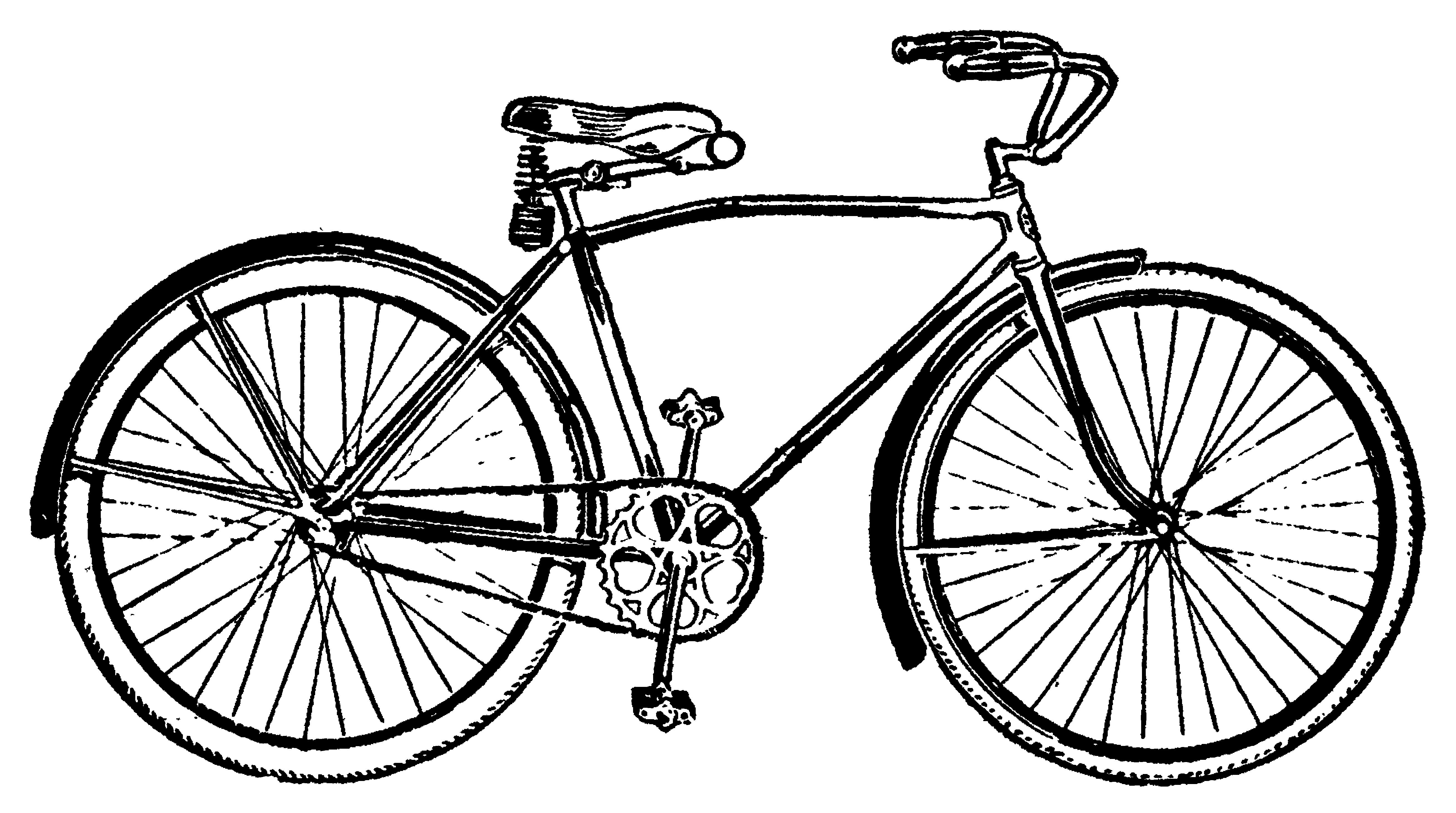 Vintage bicycle decal images. Biking clipart antique