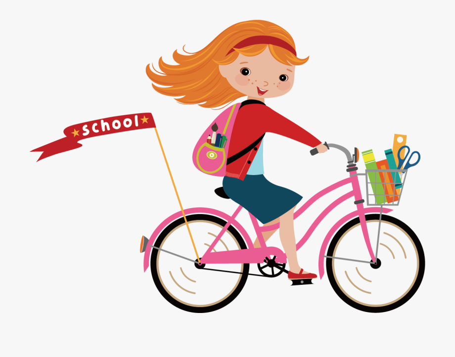 Cycle clipart school clipart. Cycling girl paris ride