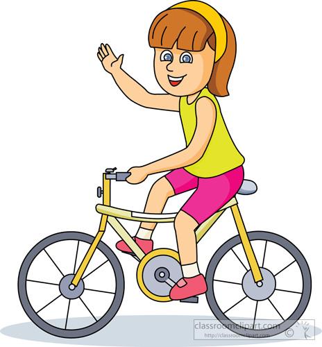 Kids riding bikes panda. Bicycle clipart cycling
