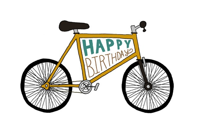 Happy to the mister. Biking clipart birthday
