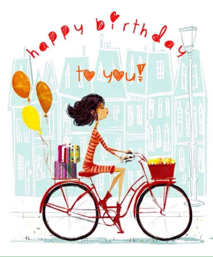 Biking clipart birthday.  best cycling images