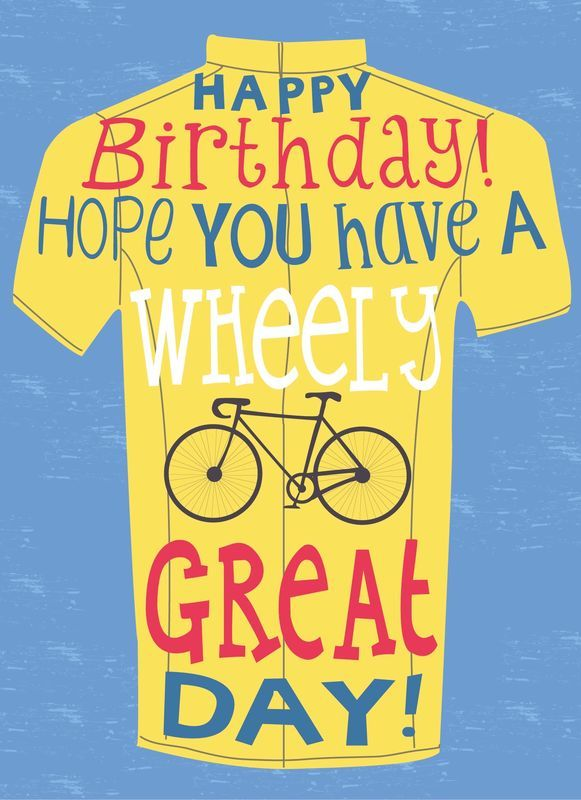 Buy cyclist cards for. Biking clipart birthday