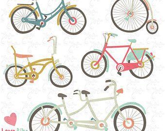 Biking clipart bycicle. Hand drawn vintage bike