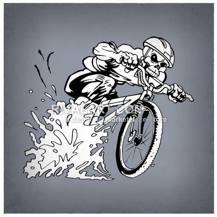 Bike on rivalart com. Biking clipart bycycle