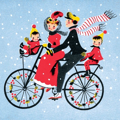 Biking clipart christmas.  best mad for