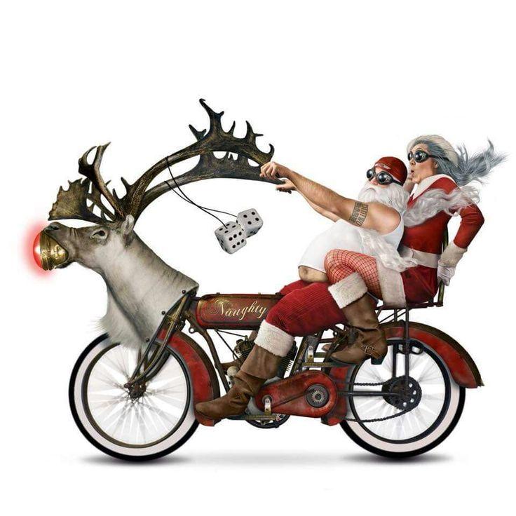Biking clipart christmas.  best harley images