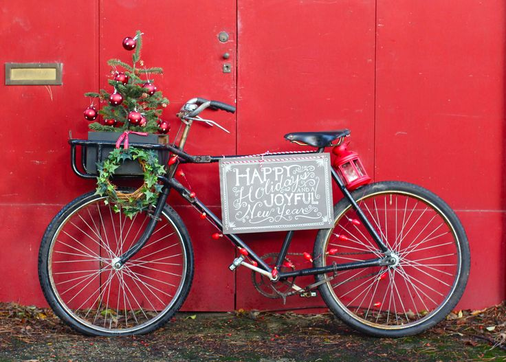 best cycling images. Biking clipart christmas