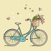 Biking clipart classic. Bicycle stock illustrations royalty