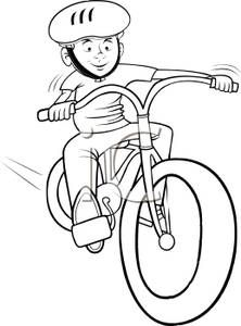 Biking clipart drawing. Bicycle rodeo clip art