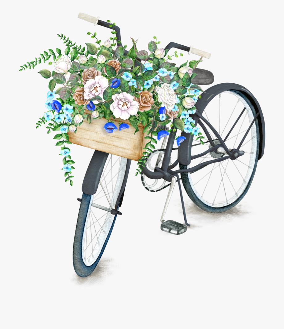 Pin by zen rkmez. Clipart bike flower