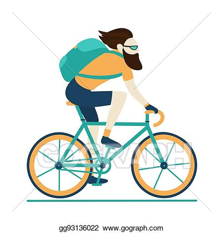 Clipart bicycle hipster. Vector art bike messenger