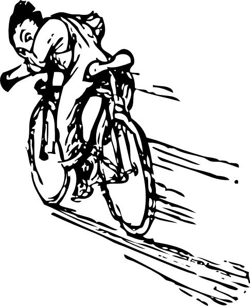 Riding a bike clip. Biking clipart illustration