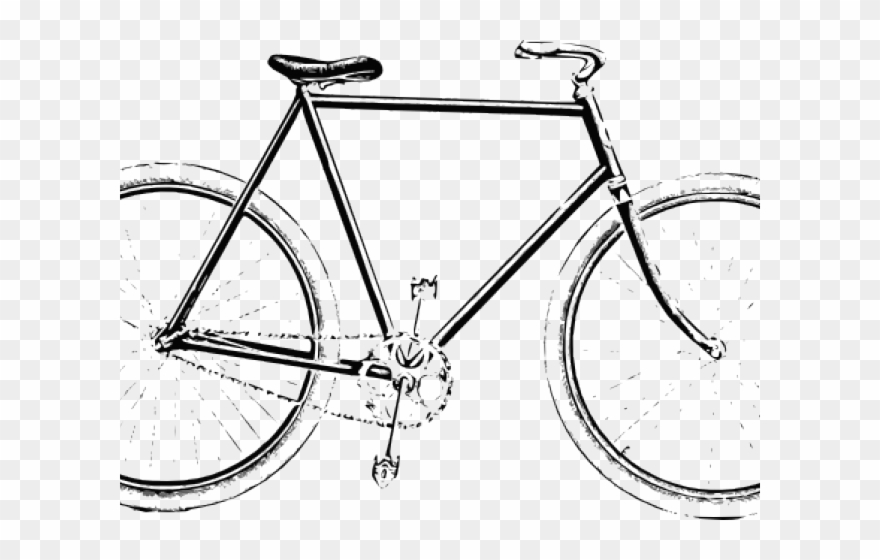 Biking clipart line. Cycling old bicycle cycle