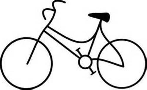Biking clipart line. Bike clip art black