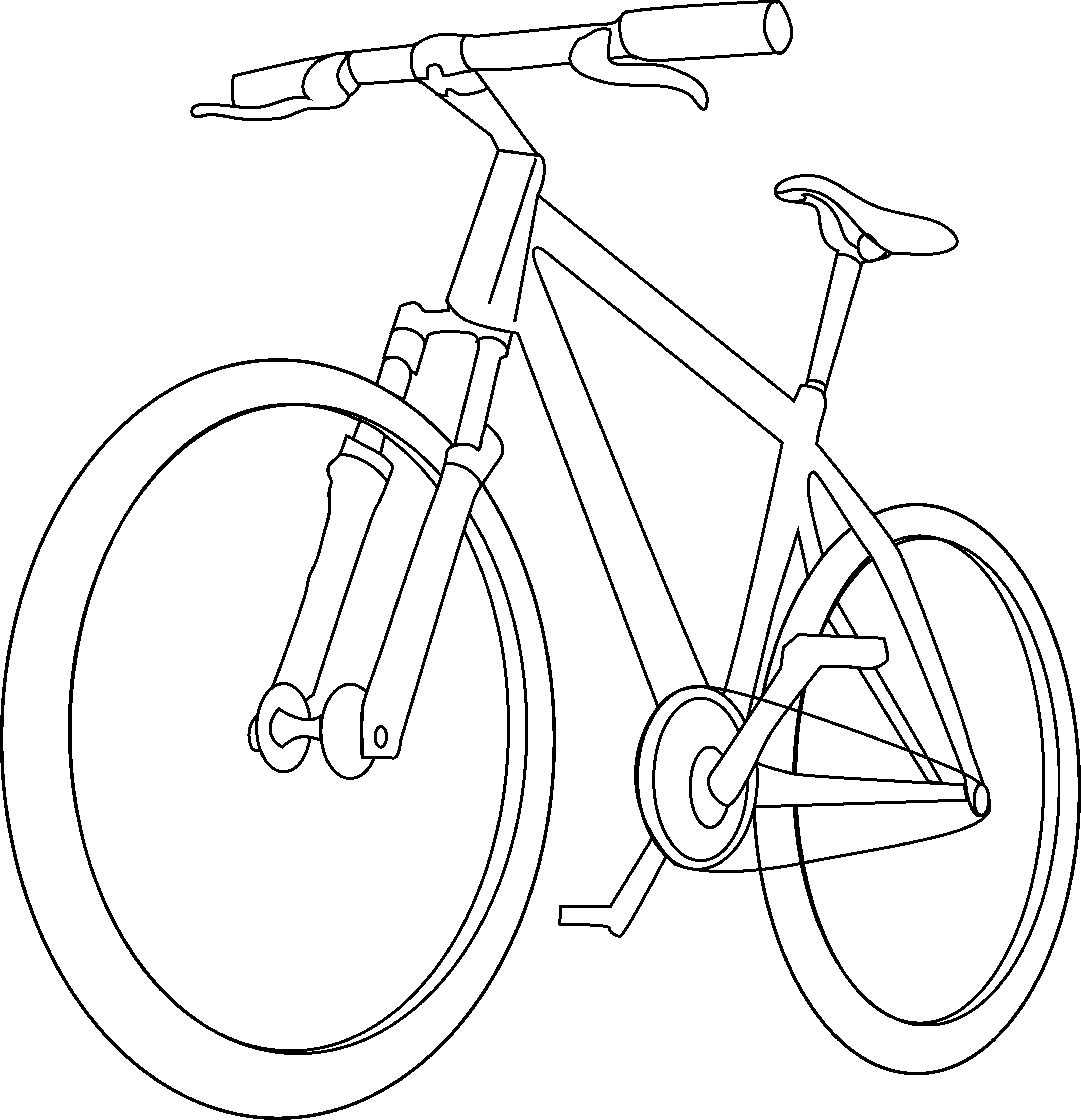 Family clipart bicycle. Bike line drawing at